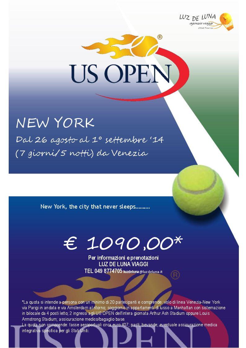 pacchetto US OPEN tennis